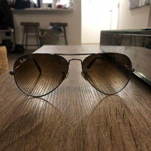 Ray Ban Aviator- brown gradient
